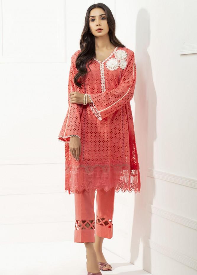 Yusra Ansari Chikankari Cotton Stitched 2 Piece Suit YA20BA Rosalee (YBE-01)