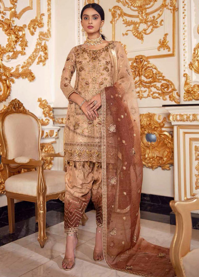 Belle Robe by Emaan Adeel Embroidered Chiffon Unstitched 3 Piece Suit EA20-C14 1406 HAPPY HARVEST - Luxury Collection