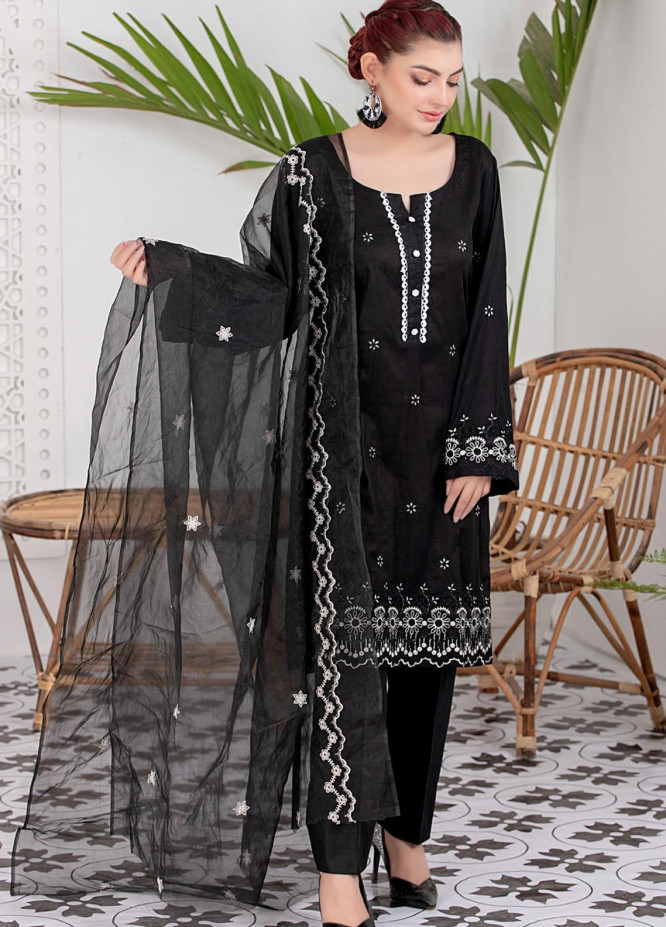 Black & White By ZS Textiles Embroidered Lawn Suits Unstitched 3 Piece ZS21BW-2 01 - Black & White Collection