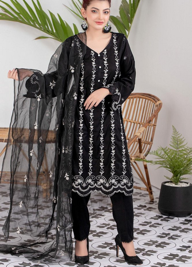 Black & White By ZS Textiles Embroidered Lawn Suits Unstitched 3 Piece ZS21BW-2 03 - Black & White Collection