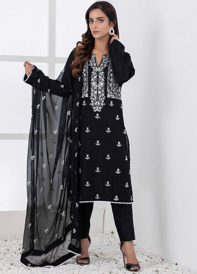 Black & White By ZS Textiles Embroidered Lawn Suits Unstitched 3 Piece ZS21BW-2 07 - Black & White Collection