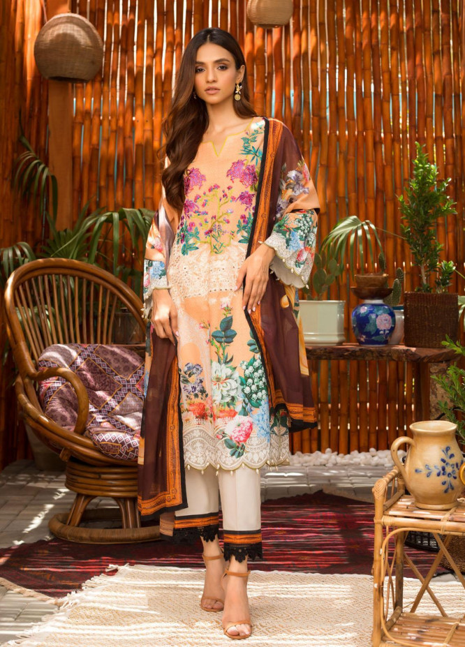 Blend Inn By Regalia Textiles Embroidered Chikankari Suits Unstitched 3 Piece RGT21B 02 - Summer Collection