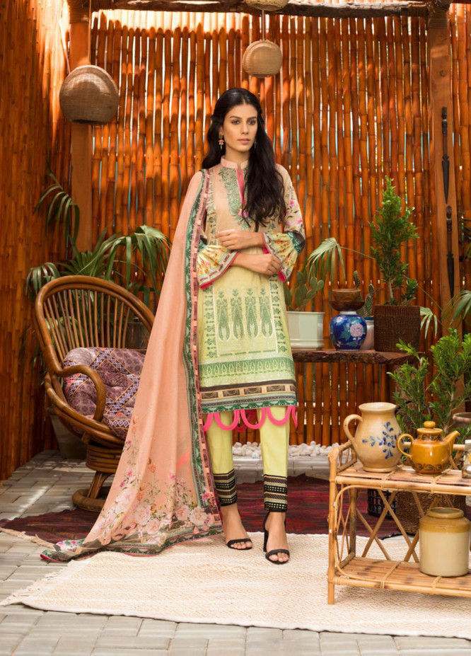 Blend Inn By Regalia Textiles Embroidered Chikankari Suits Unstitched 3 Piece RGT21B 03 - Summer Collection