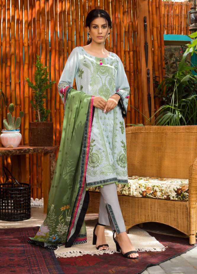 Blend Inn By Regalia Textiles Embroidered Chikankari Suits Unstitched 3 Piece RGT21B 10 - Summer Collection
