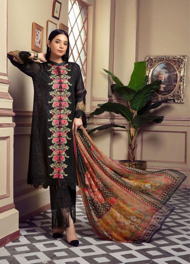 Blossom by Riaz Arts Embroidered Lawn Unstitched 3 Piece Suit RA21B 02 - Summer Collection