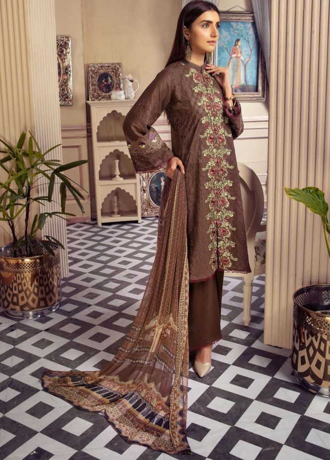 Blossom by Riaz Arts Embroidered Lawn Unstitched 3 Piece Suit RA21B 03 - Summer Collection