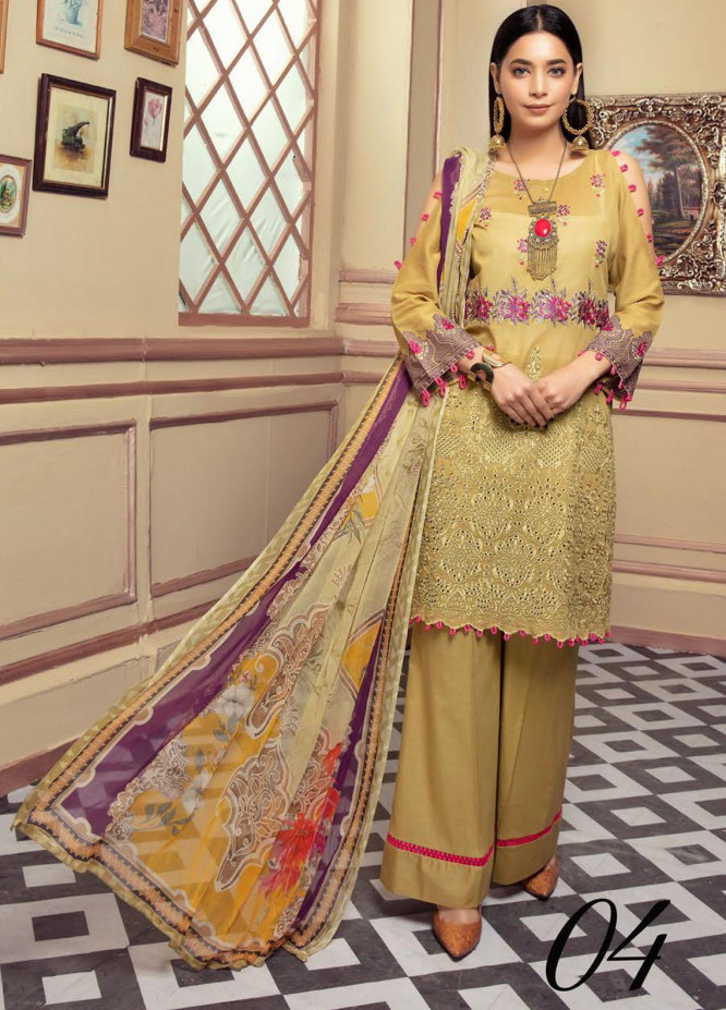 Blossom by Riaz Arts Embroidered Lawn Unstitched 3 Piece Suit RA21B 04 - Summer Collection