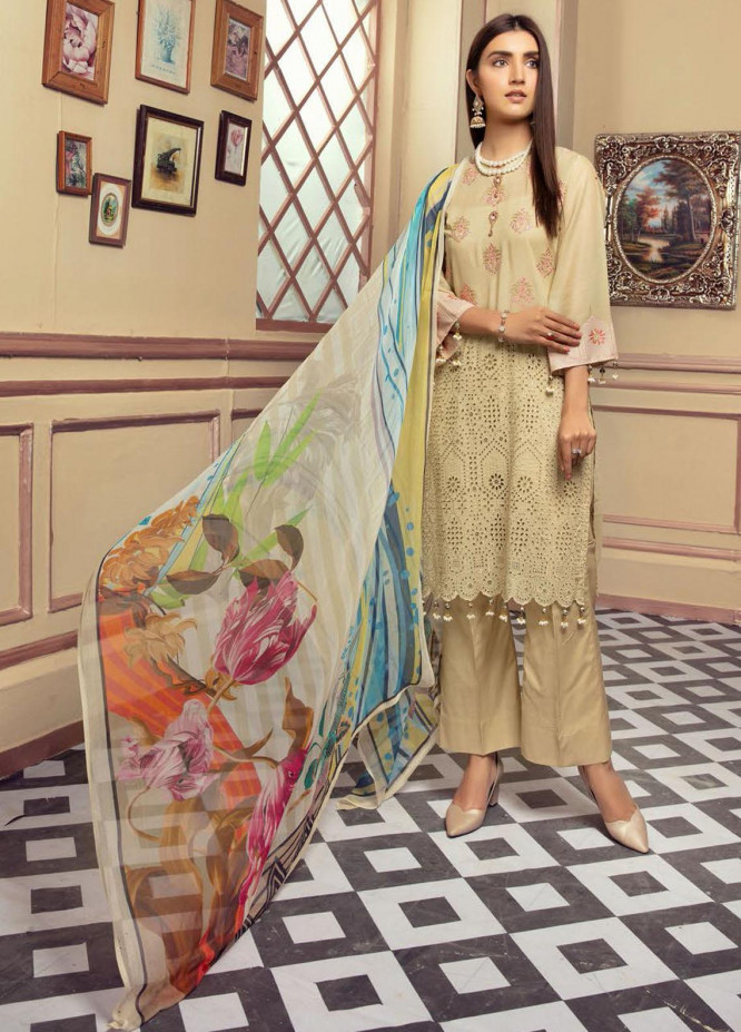 Blossom by Riaz Arts Embroidered Lawn Unstitched 3 Piece Suit RA21B 09 - Summer Collection