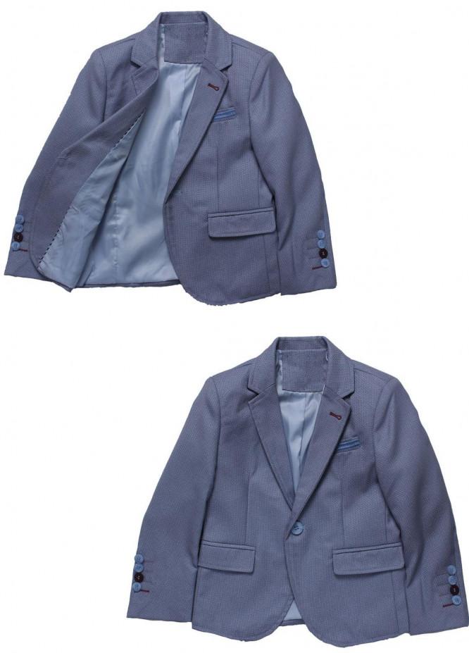 Sanaulla Exclusive Range Cotton Formal Coat Suit for Boys -  BN03S Sky Blue