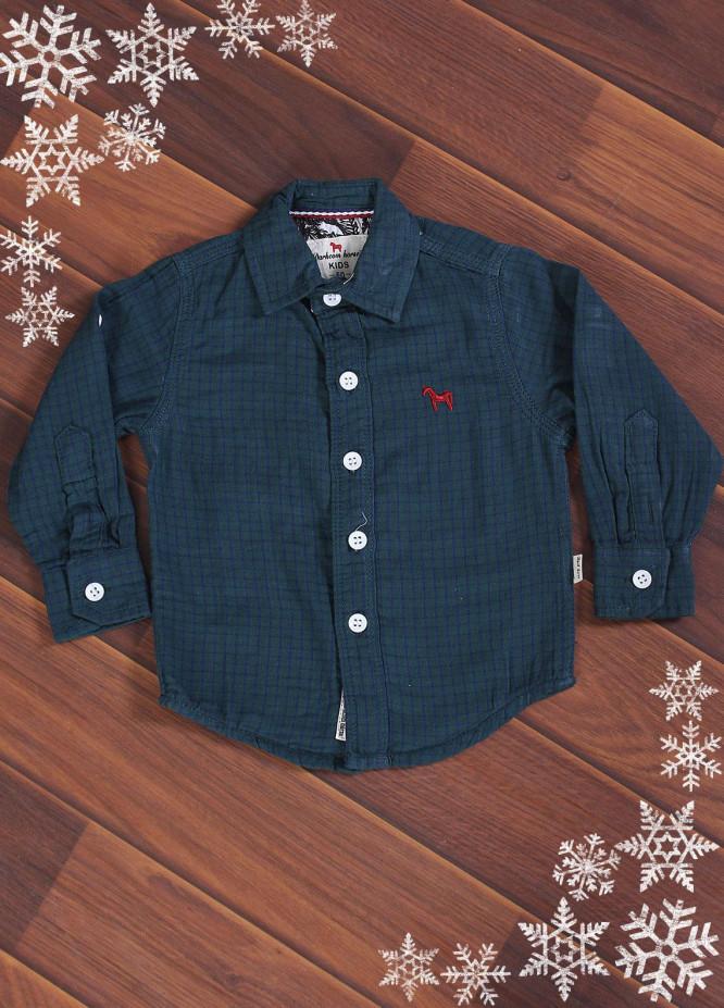 Sanaulla Exclusive Range Cotton Casual Shirts for Boys -  006 Green