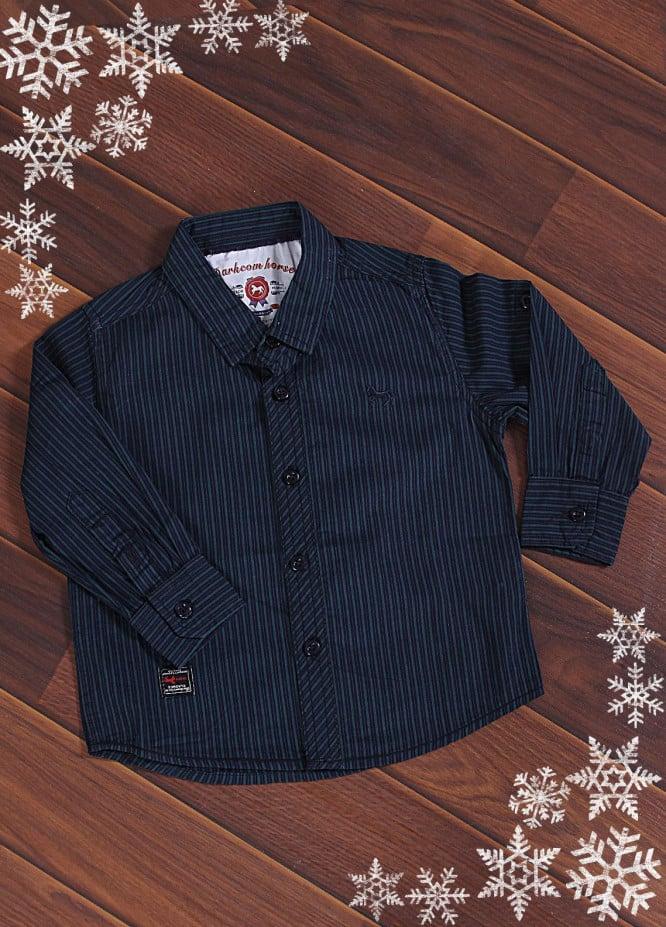 Sanaulla Exclusive Range Cotton Casual Boys Shirts -  X276A Blue