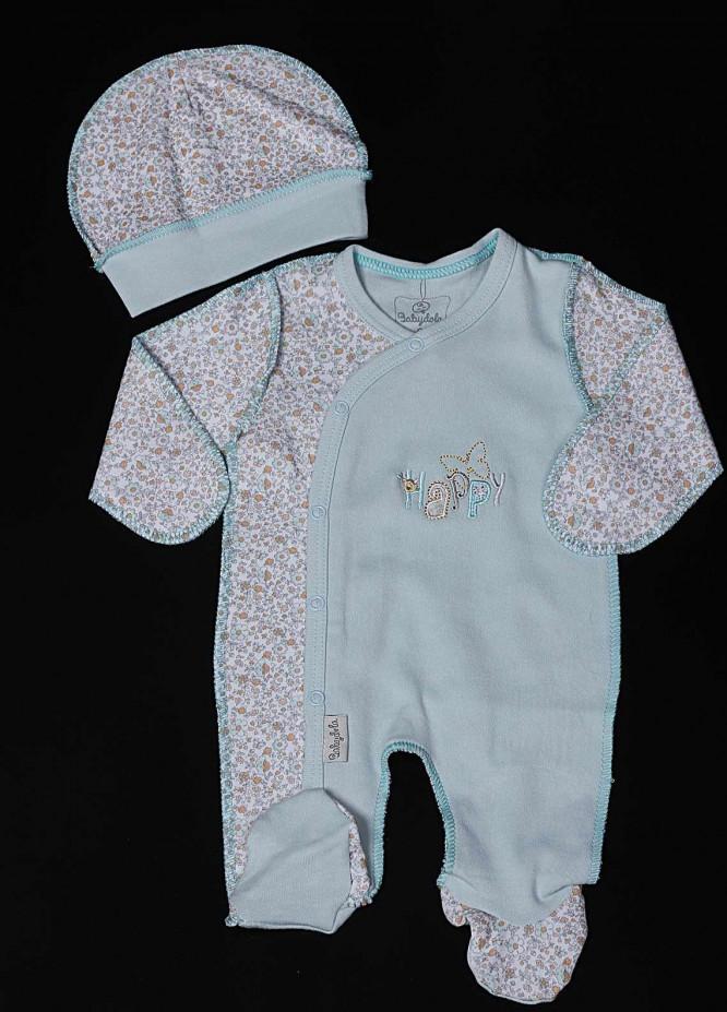 Sanaulla Exclusive Range Cotton Fancy Romper for Boys -  11458 Sky Blue