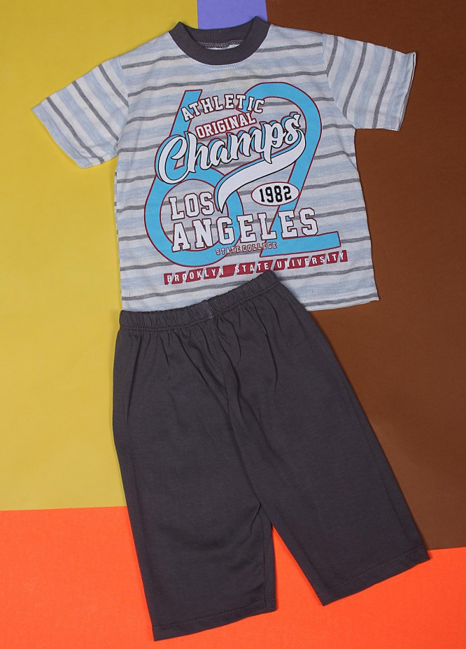 Sanaulla Exclusive Range Cotton Fancy Boys Suits -  Light Grey 21977