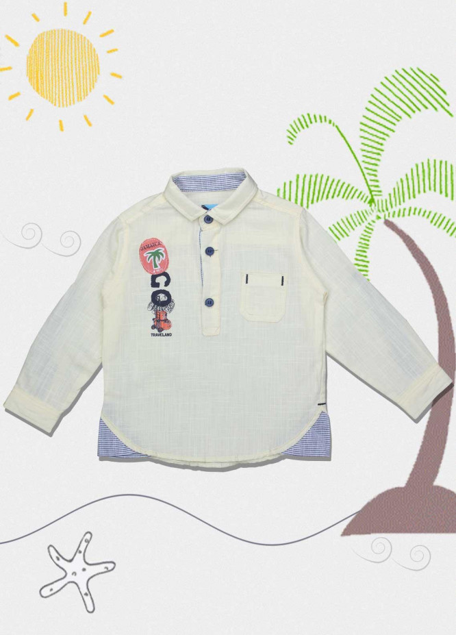 Sanaulla Exclusive Range Cotton Fancy Boys Shirts -  551 Yellow