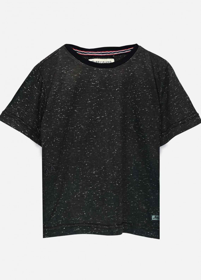 Brumano Cotton Casual Boys T-Shirts -  BRM21JS Charcoal Neppy