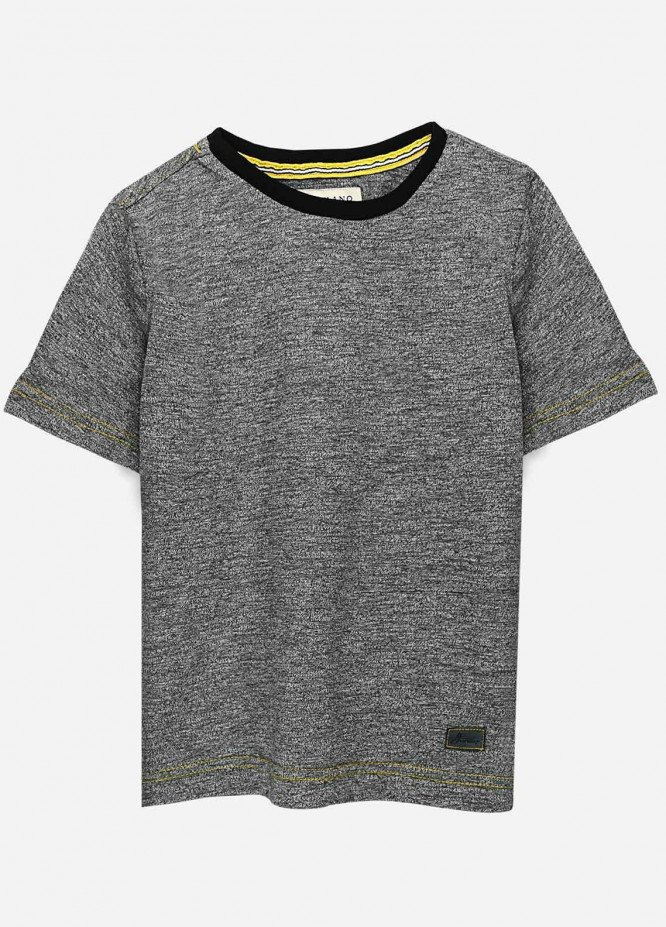 Brumano Cotton Casual T-Shirts for Boys -  BRM21JS Grey Short Sleeves Marl