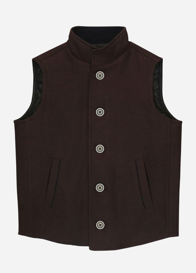 Brumano Polyester Casual Jackets for Boys -  BM20JJ Bordo Quilted Casual Sleeveless Vest - Junior