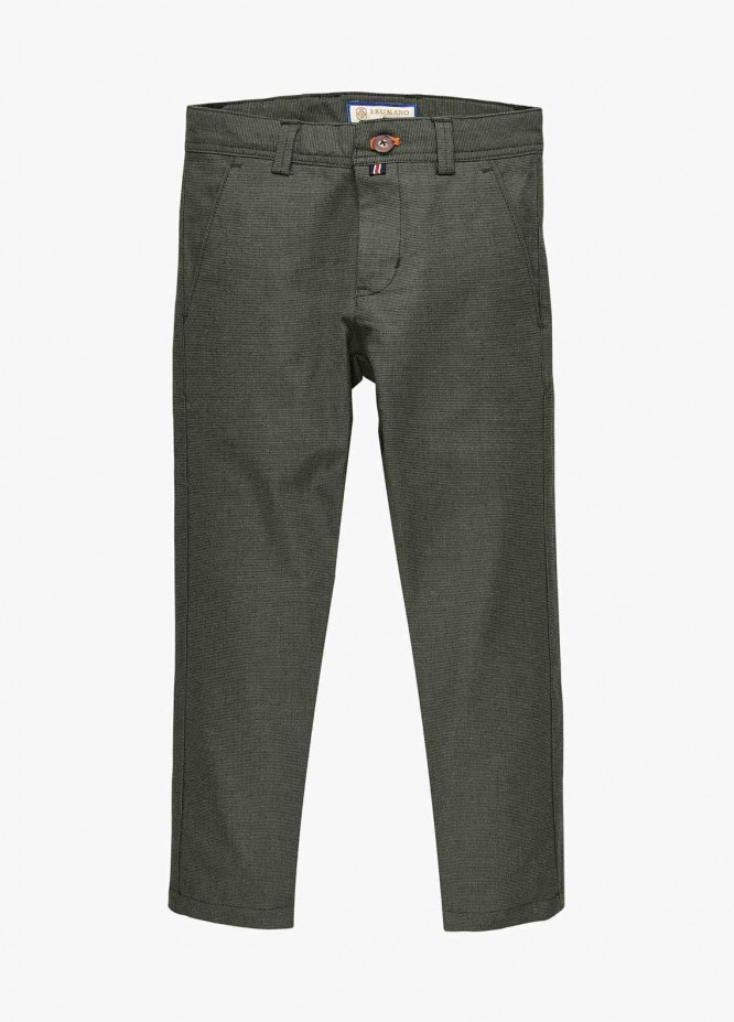 Brumano Cotton Casual Boys Trousers - Blue BM20JP Green Structured Casual Trouser - Junior
