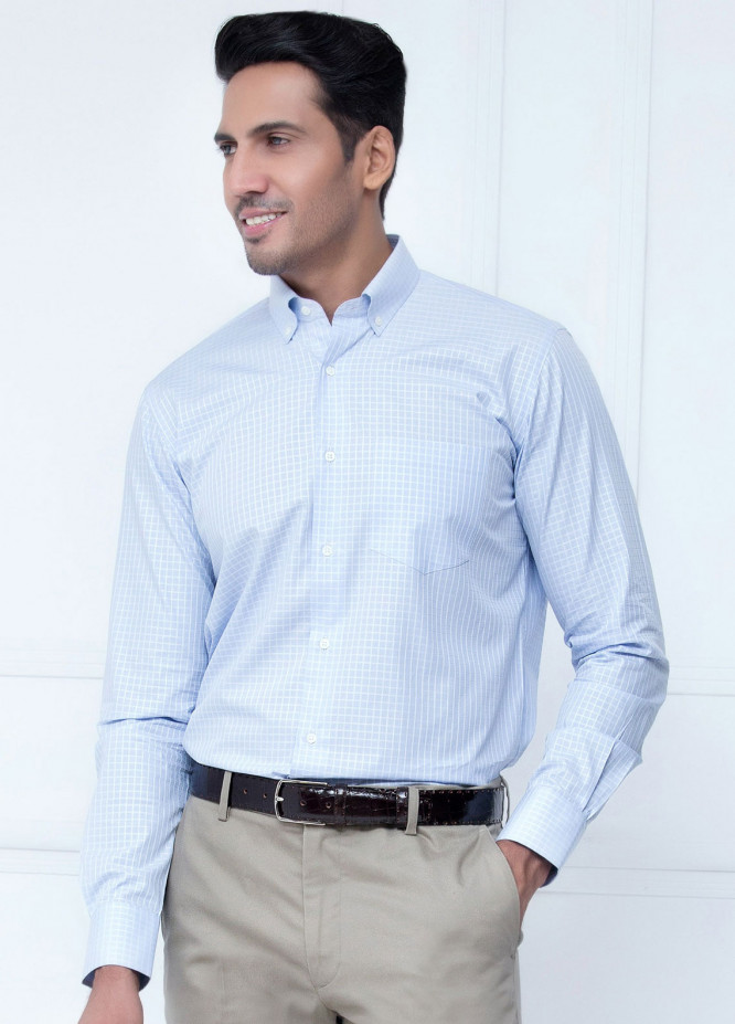 Brumano Cotton Formal Men Shirts   Blue BRM 209