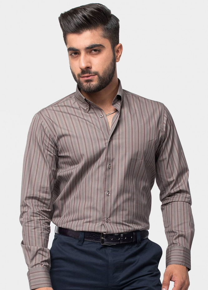 Brumano Cotton Formal Men Shirts   Brown BRM 495