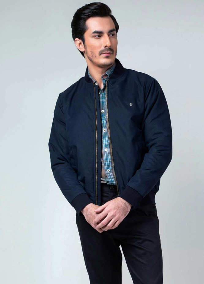 Brumano Polyester Casual Jackets for Mens -   Navy Blue Quilted Bomber