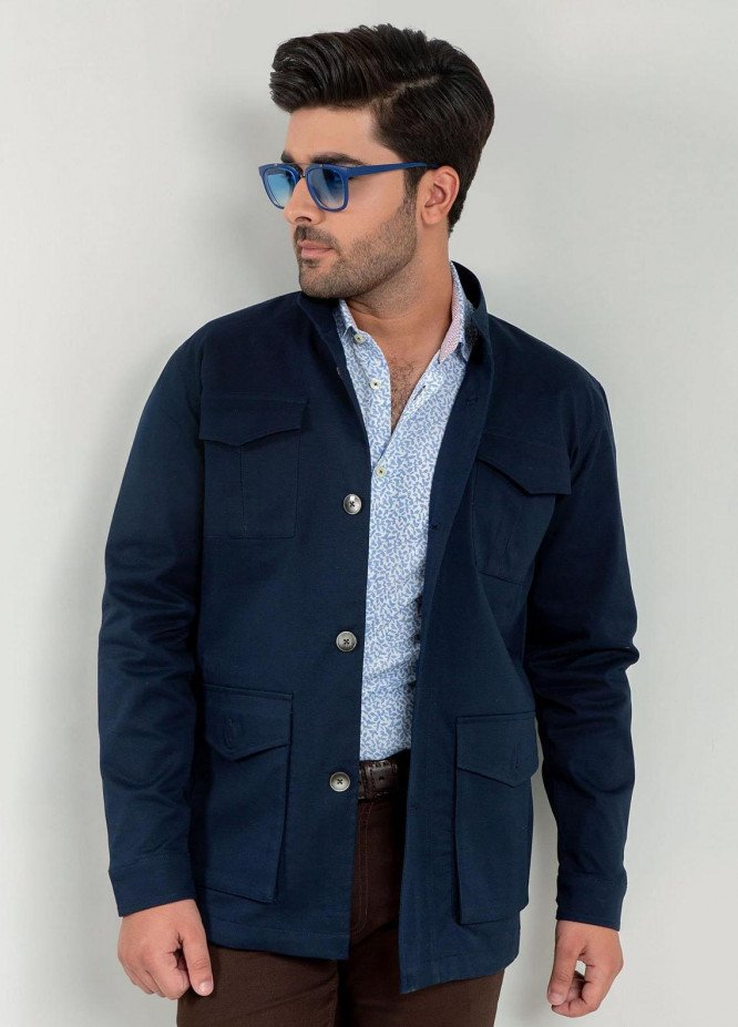 Brumano Cotton Casual Jackets for Mens -   Navy Blue Trench