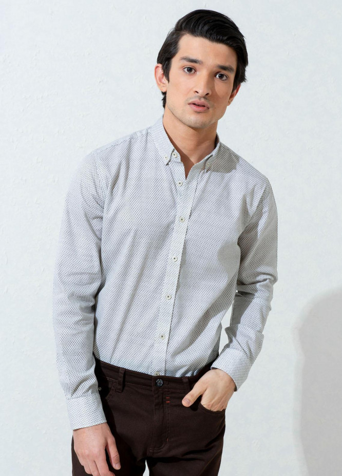 Brumano Cotton Casual Shirts for Men -  Olive Floral Printed