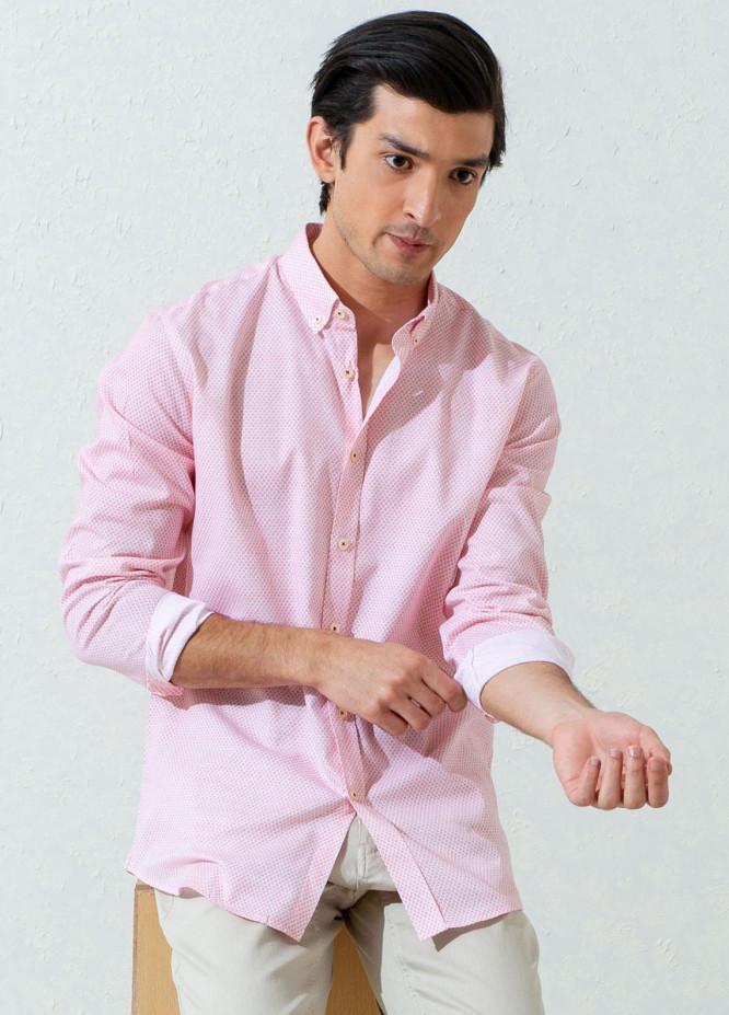 Brumano Cotton Casual Men Shirts -  Pink Floral Printed