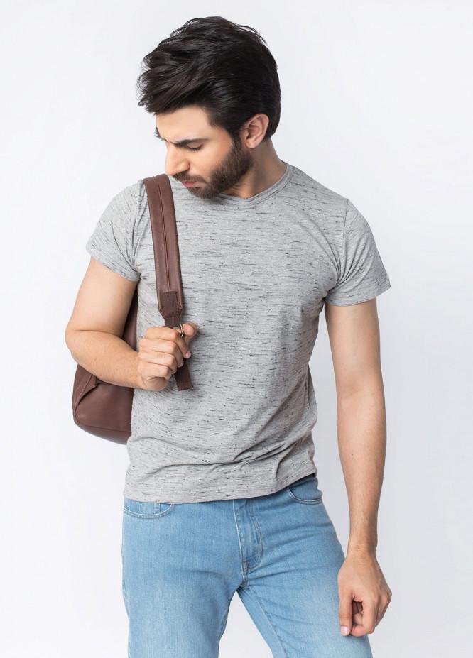 Brumano Cotton Casual Men T-Shirts - Grey BRM-42-995