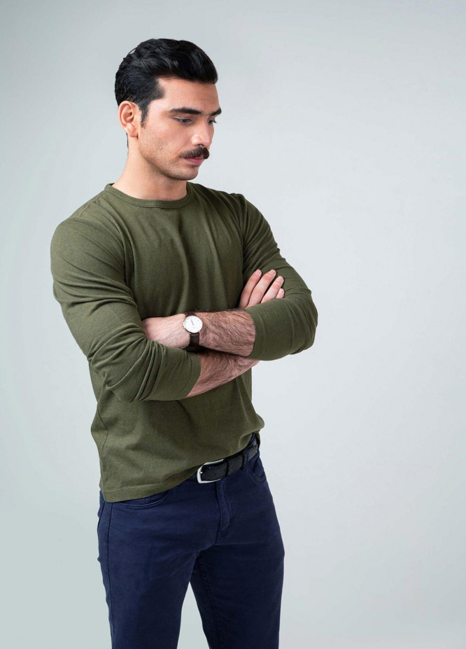 Brumano Cotton Full Sleeves T-Shirts for Men -  LW-151