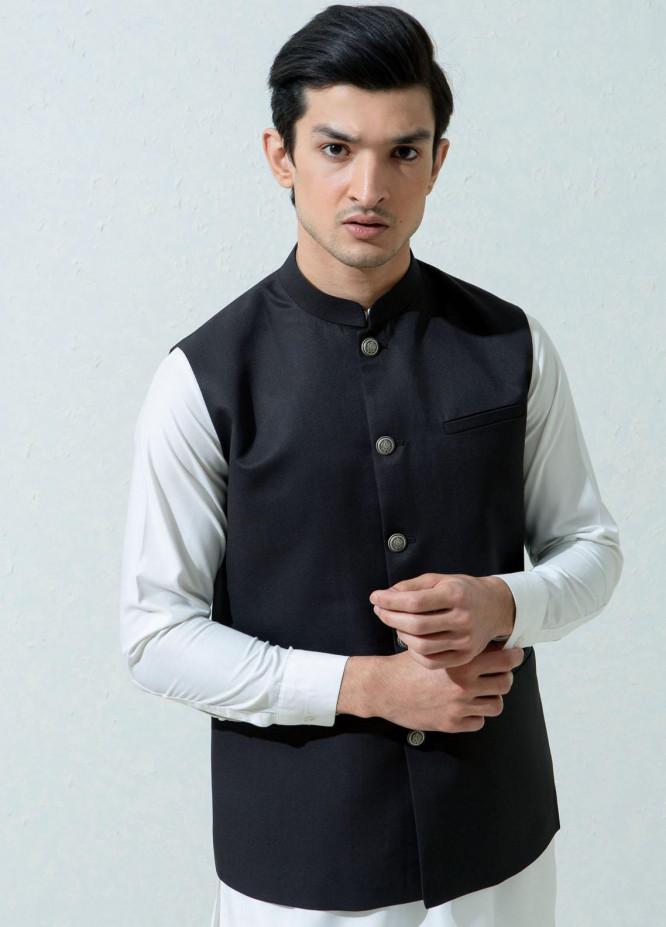 Brumano Cotton Viscose Formal Men Waistcoat -  Charcoal Formal Twill