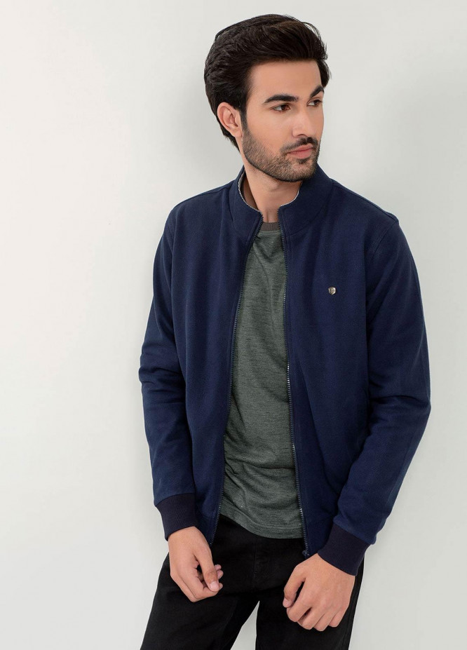 Brumano Cotton Full Sleeves Jackets for Men -  BM20WJ Navy Blue Sporty Jacket