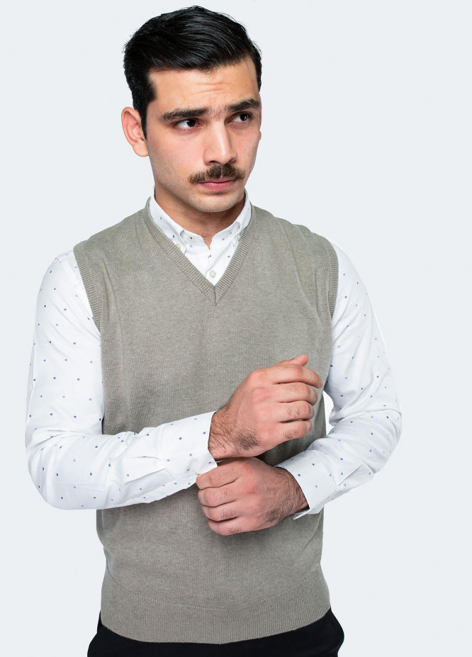 Brumano Cotton Sleeveless V-Neck Sweaters for Men -  SL-283
