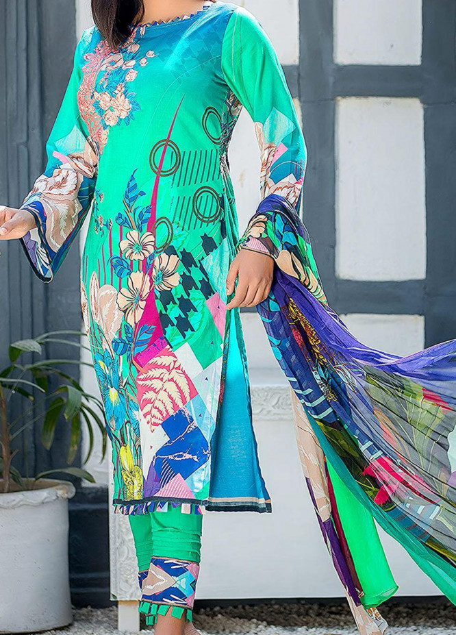 Kashish By Change Embroidered Lawn Suits Unstitched 3 Piece CG21K CL-024 - Summer Collection