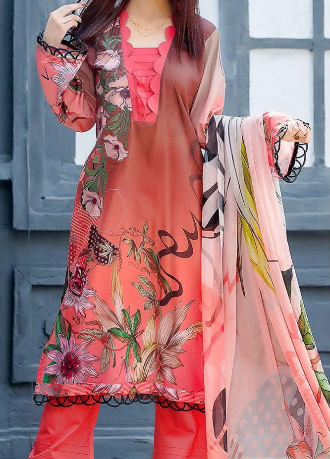 Kashish By Change Embroidered Lawn Suits Unstitched 3 Piece CG21K CL-025 - Summer Collection