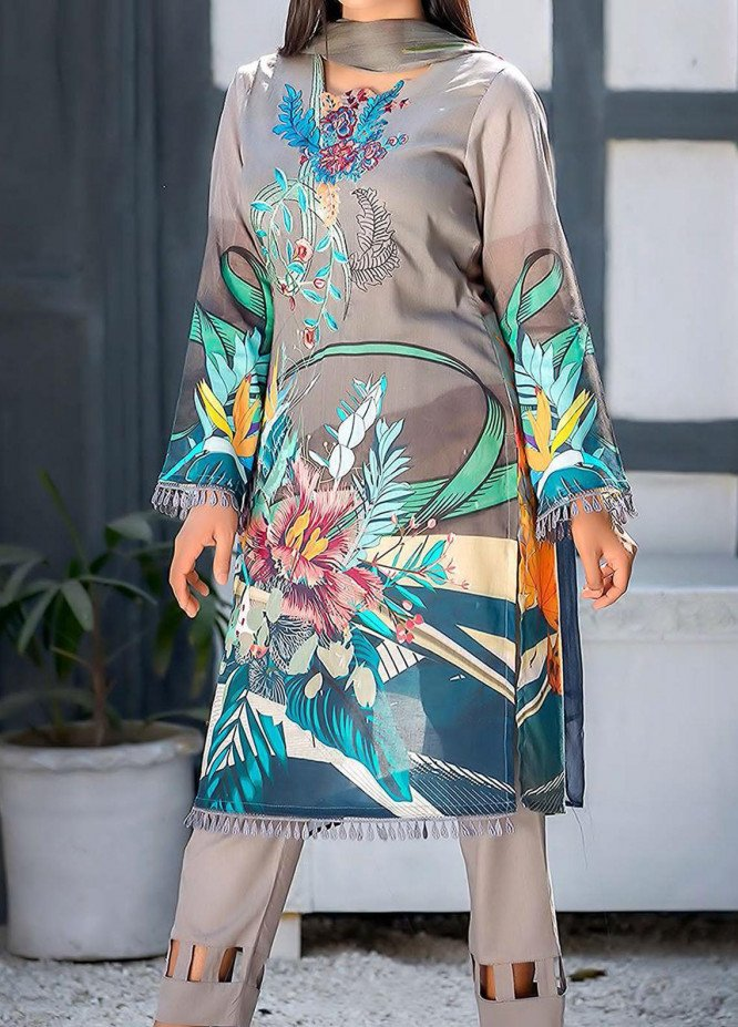 Kashish By Change Embroidered Lawn Suits Unstitched 3 Piece CG21K CL-026 - Summer Collection