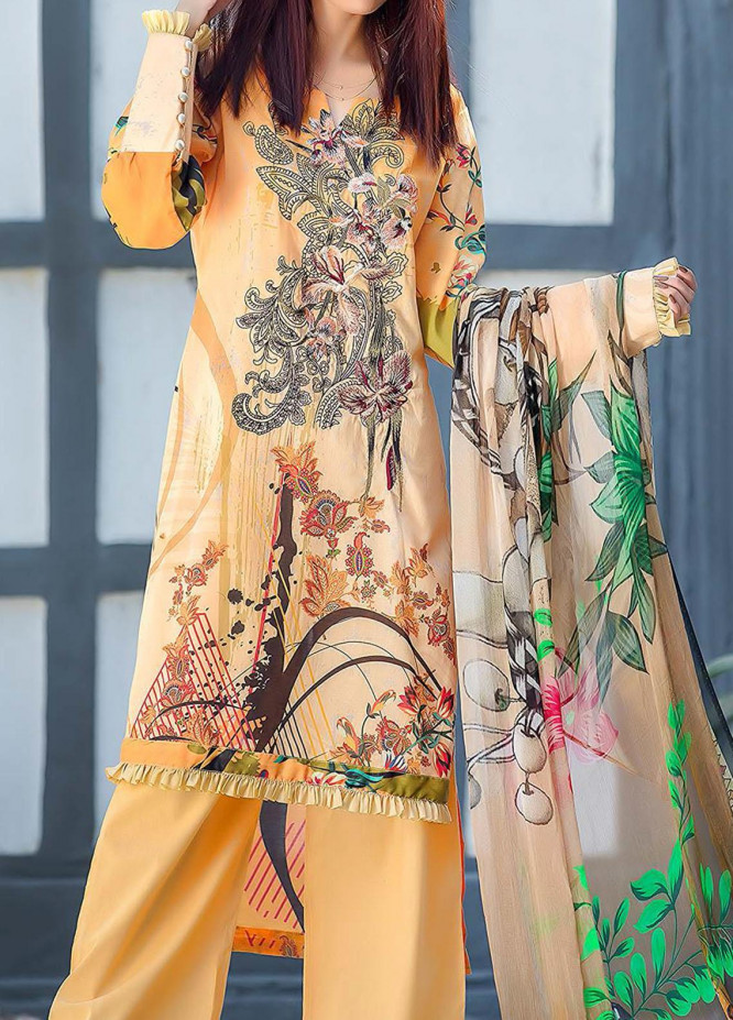 Kashish By Change Embroidered Lawn Suits Unstitched 3 Piece CG21K CL-027 - Summer Collection