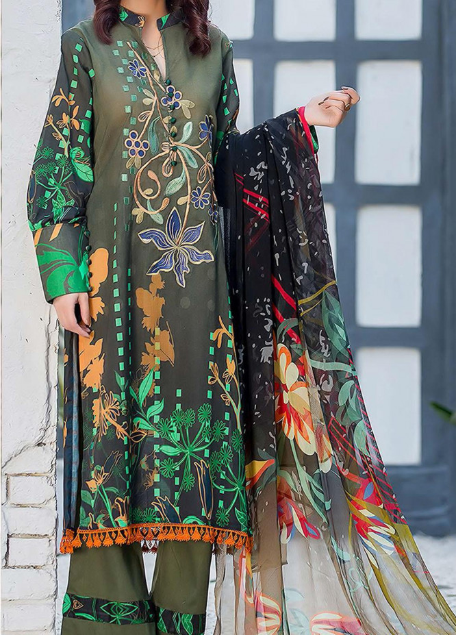 Kashish By Change Embroidered Lawn Suits Unstitched 3 Piece CG21K CL-028 - Summer Collection