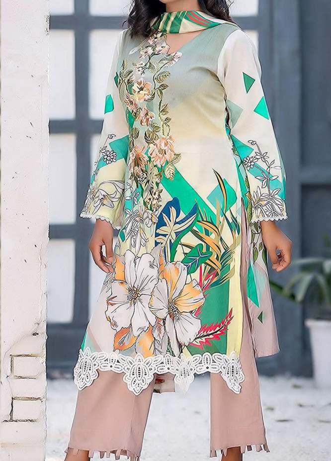 Kashish By Change Embroidered Lawn Suits Unstitched 3 Piece CG21K CL-031 - Summer Collection