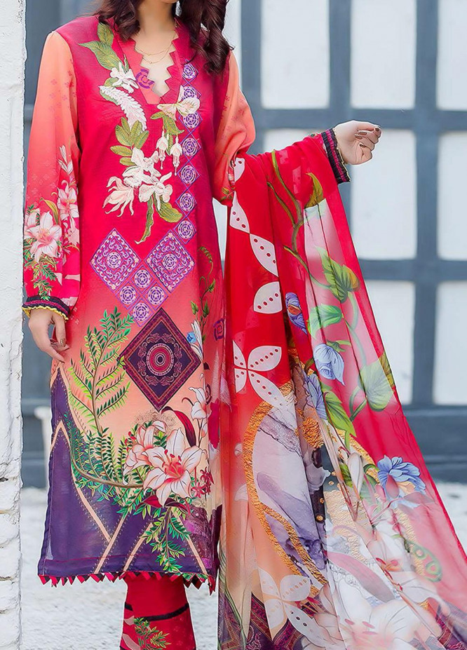 Kashish By Change Embroidered Lawn Suits Unstitched 3 Piece CG21K CL-032 - Summer Collection