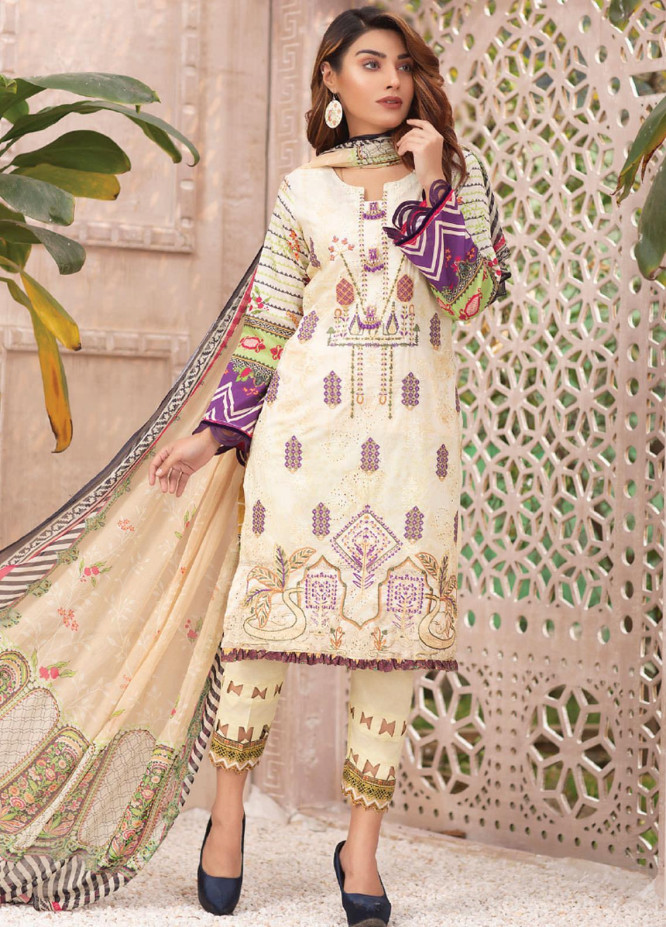 Change Embroidered Lawn Suits Unstitched 3 Piece CG21SR D-20 - Summer Collection
