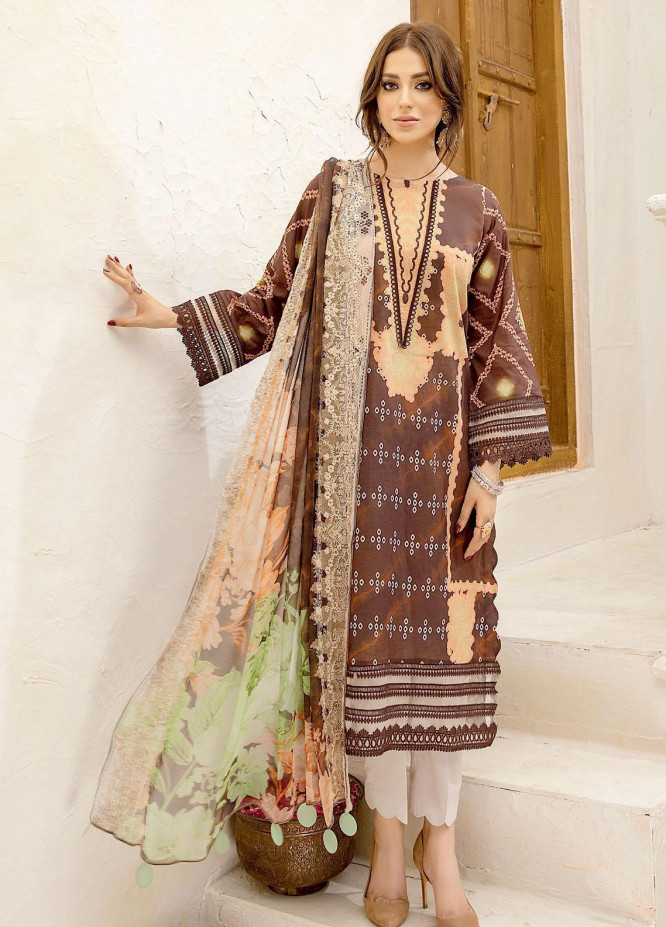 Aniiq Chunri By Charizma Printed Lawn Suits Unstitched 3 Piece CRZ21AC 02 - Summer Collection