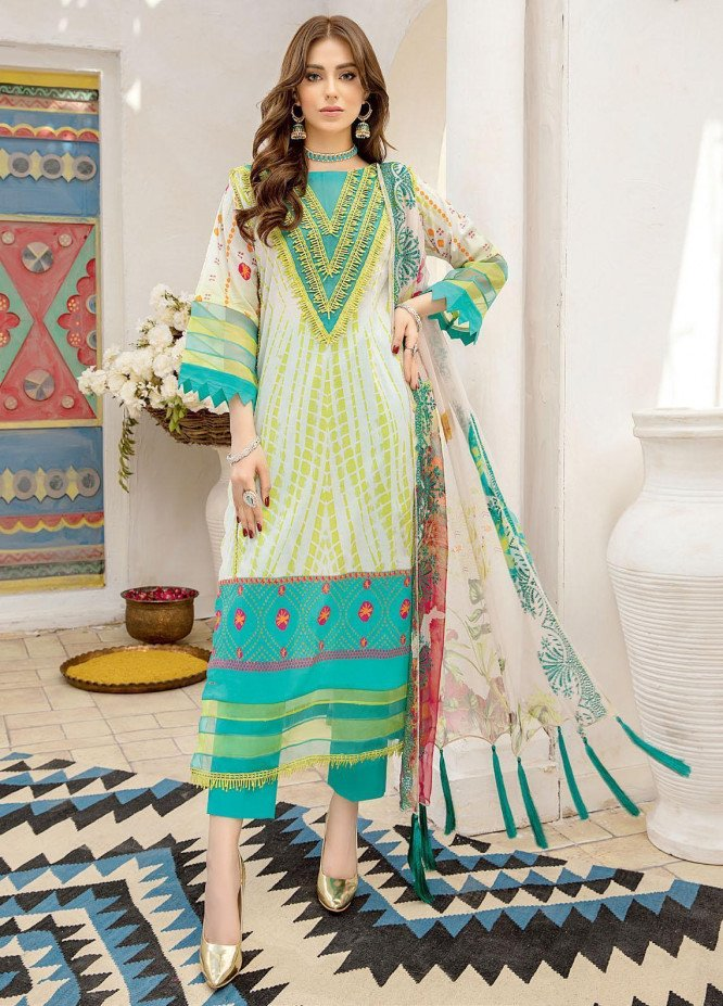 Aniiq Chunri By Charizma Printed Lawn Suits Unstitched 3 Piece CRZ21AC 09 - Summer Collection