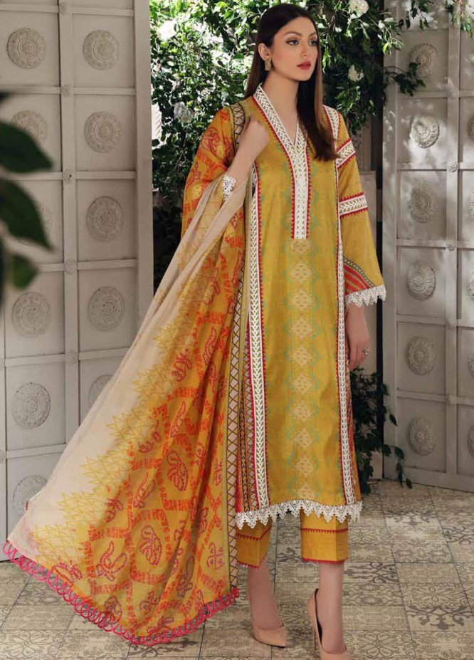Charizma Printed Lawn Suits Unstitched 3 Piece CRZ21CP-5 CP-52 - Summer Collection