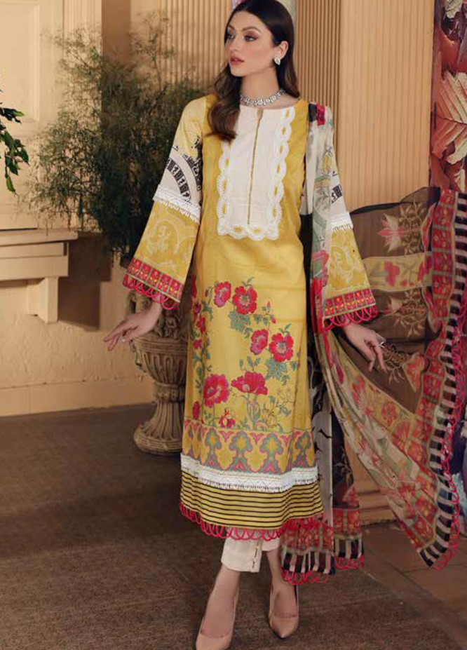 Charizma Printed Lawn Suits Unstitched 3 Piece CRZ21CP-5 CP-58 - Summer Collection