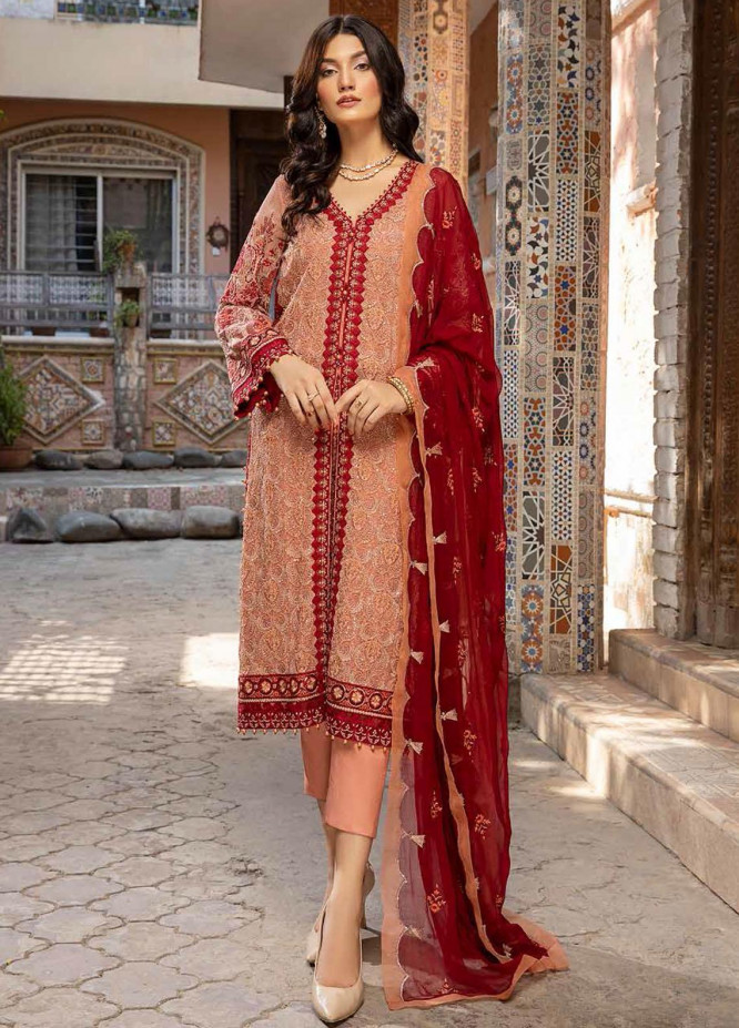 Charizma Embroidered Chiffon Suits Unstitched 3 Piece CRZ21-C6 CHM-40 - Festive Collection