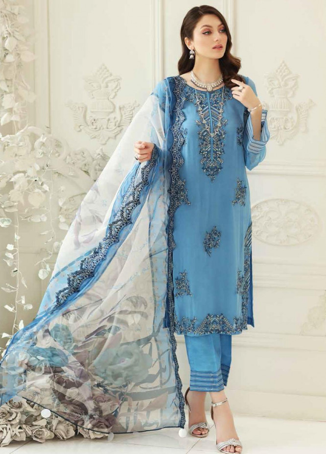 Charizma Embroidered Chiffon Suits Unstitched 3 Piece CRZ21-C6 CHM-42 - Festive Collection