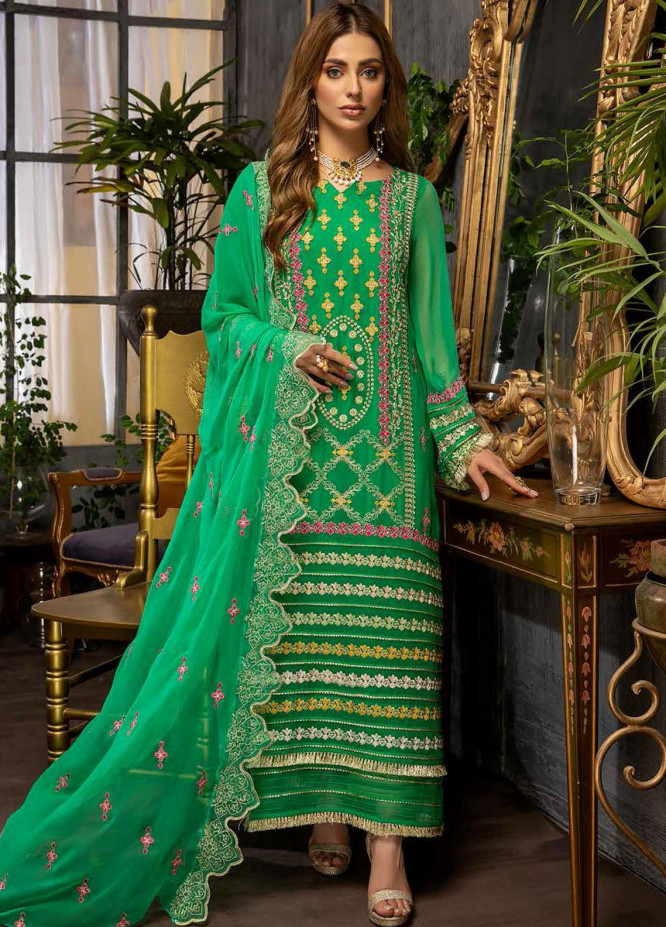 Charizma Embroidered Chiffon Suits Unstitched 3 Piece CRZ21-C6 CHM-43 - Festive Collection