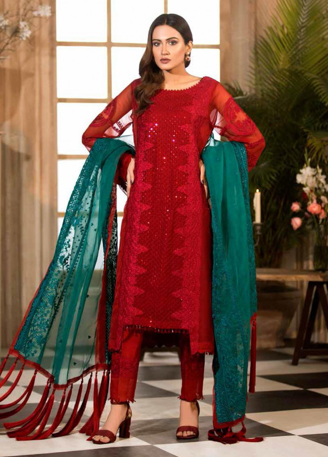 Charizma Embroidered Chiffon Suits Unstitched 3 Piece CRZ21-C6 CHM-44 - Festive Collection