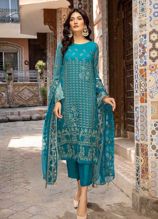 Charizma Embroidered Chiffon Suits Unstitched 3 Piece CRZ21-C6 CHM-46 - Festive Collection